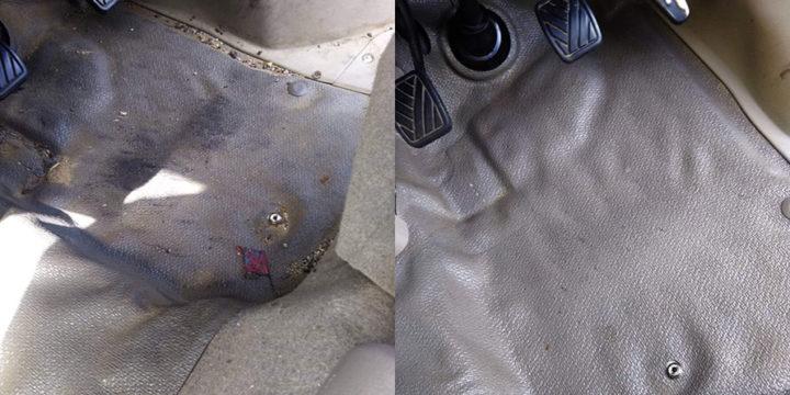 レンタカーの掃除写真1